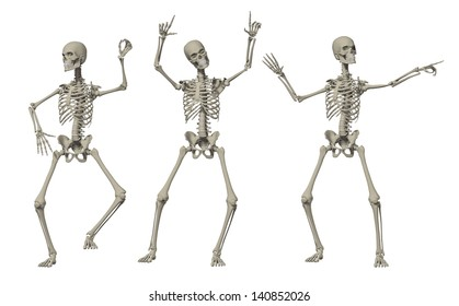 3D Happy Dancing Skeleton for Holloween