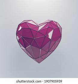 3D Heart Saint Valentine's Day