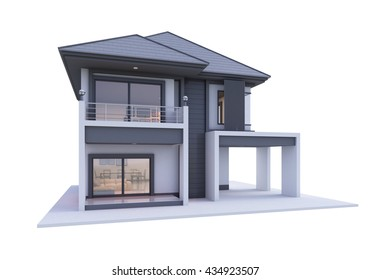 3d house isolated modern