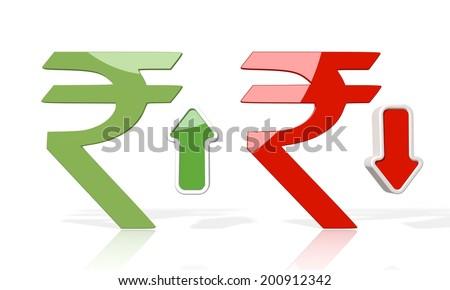 3 D Icon Pakistan Rupee Symbol Down Stock Illustration 200912342