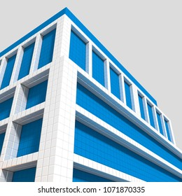 3D iilustration of part of building