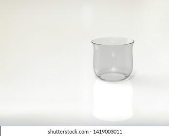 3D Illusration of a Glass