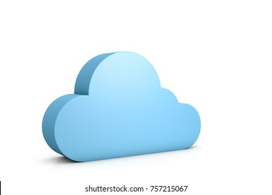 3d illustration abstract data cloud on white