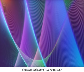 3D illustration. Abstract image in artistic shape and colors for use as background.