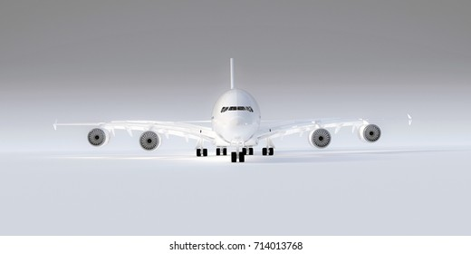 3d illustration of an airplane isolated on white background
