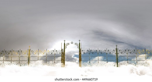 3d illustration of the amazing heaven gate