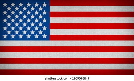 3d illustration of american national flag