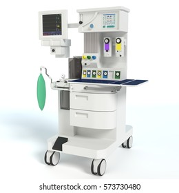 3d illustration of an anesthesia machine
