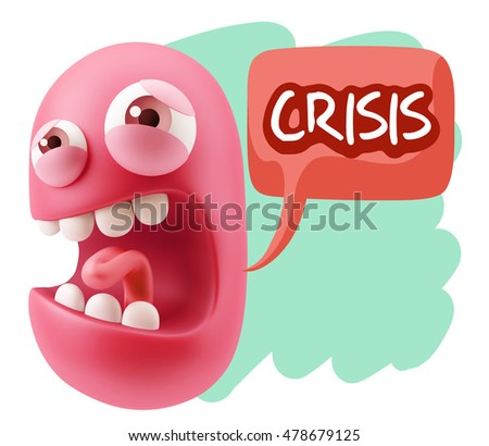 3 D Illustration Angry Face Emoticon Saying Stock Illustration
