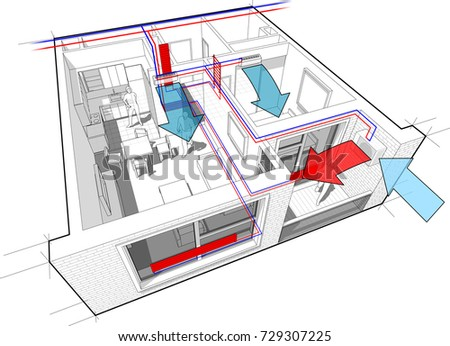 3 D Illustration Apartment Completely Furnished Hot Stock ...