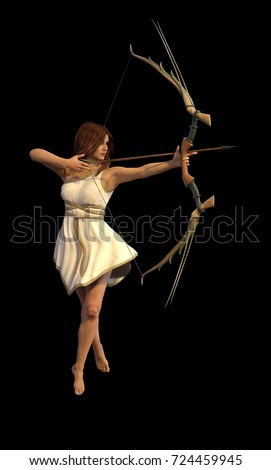 3D illustration of Artemis
