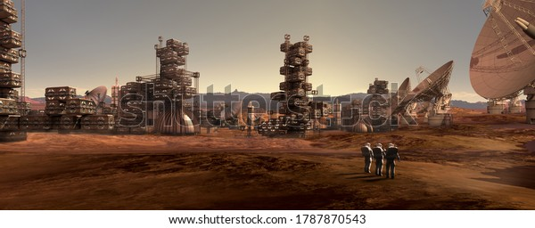 3d-illustration-astronauts-on-red-600w-1