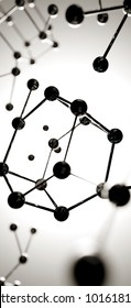 3D illustration. atom connection concept. Abstrack background. Science Wallpaper screensaver