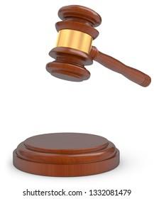 3D illustration auction court judgment