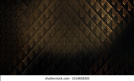 3D illustration Background for advertising and wallpaper in art deco and fashion party scene. 3D rendering in decorative concept.