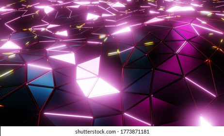 3D illustration Background for advertising and wallpaper in sci fi and technology innovation scene. 3D rendering in decorative concept.