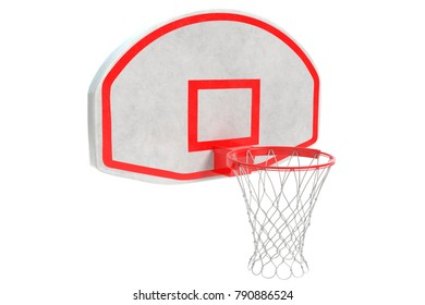 3d illustration of a basketball rim and backboard