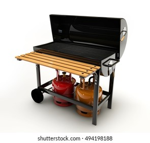 3d Illustration of BBQ Grill on white background