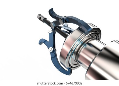 3d illustration of bearing puller isolated on white