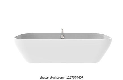3D illustration of a beautiful bathtub