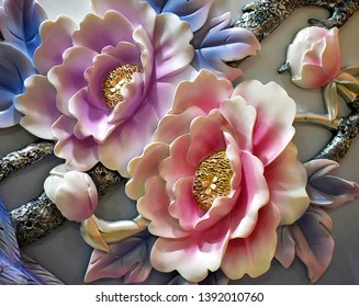3d illustration beautiful flower wallpaper 260nw 1392010760