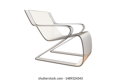 3d illustration of a beautiful modern plastic chair isolated on a white background