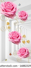 3d illustration of beautiful roses