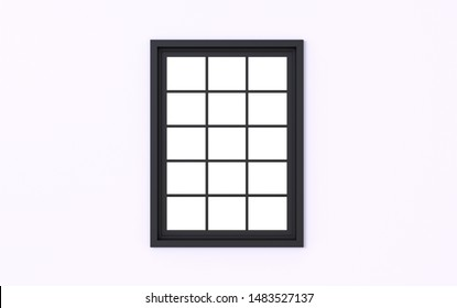 3d Illustration of  beautiful window frame isolated on a white background