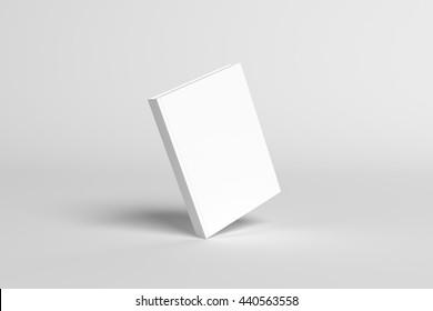 3D Illustration of blank Book Cover Mock-up