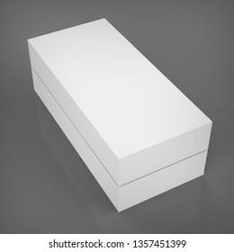 3d illustration of Blank box on dark background