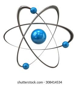 3 d illustration blue atom molecule isolatedのイラスト素材 447331045
