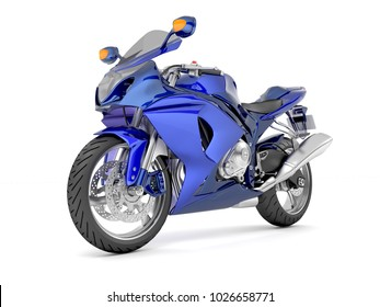 3d illustration of a blue black sport motorcycle on a white background.jpg