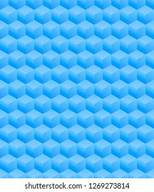 3D Illustration - blue isometric scuares