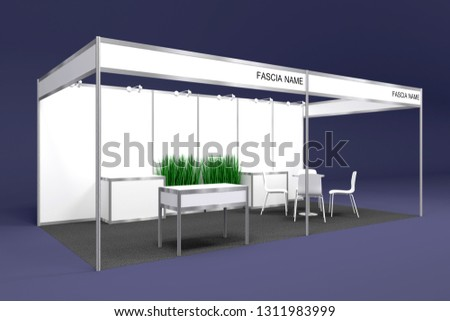 Exhibition Booth Size : D illustration booth exhibition partition standard stock