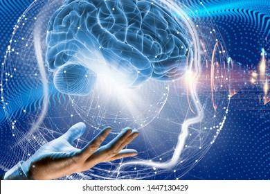 3d illustration. Brain. Human life. Intellect.