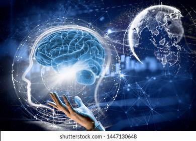 3d illustration. Brain. Human life. Idea, Head.
