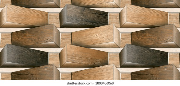 3d illustration, bricks elevation wall tiles design for outdoor wall and background wallpaper