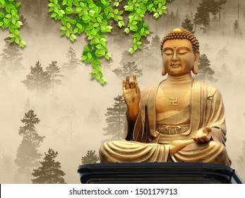 Buddha Wallpaper 3d Images Stock Photos Vectors Shutterstock