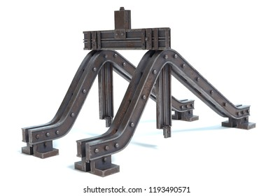 3d illustration of a buffer stop