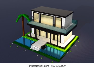 3D illustration of building