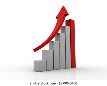 3d illustration of business chart