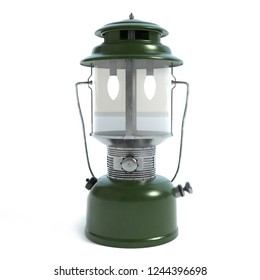 3d illustration of a camping lantern