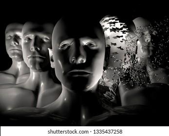 3d illustration: cgi/ illustration: ai, bionics, genetic engineering, robotics.