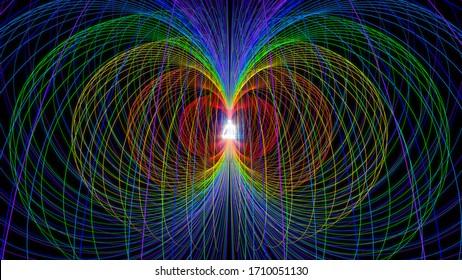 3d illustration. chakra system of human energy fields
