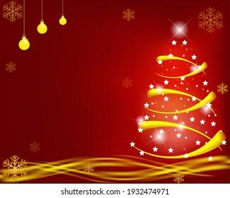 3d illustration of christmas tree
