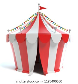 3d illustration of a circus tent