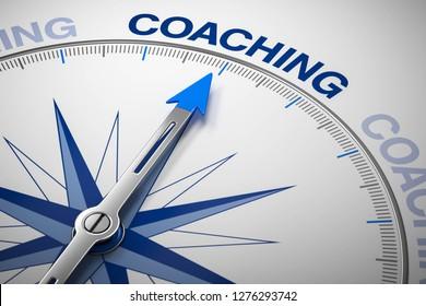 3D illustration compass coaching