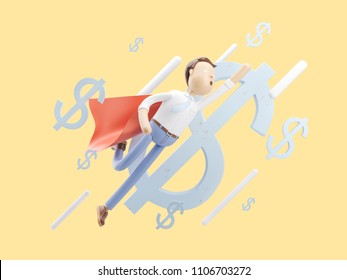 3d illustration concept of money transfering
