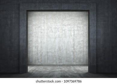 3D illustration of the concrete portal