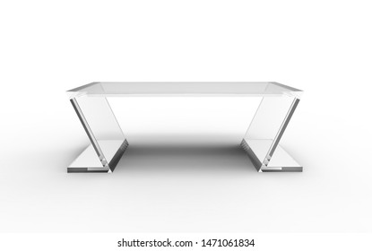 3D illustration of a cool office table on a white background